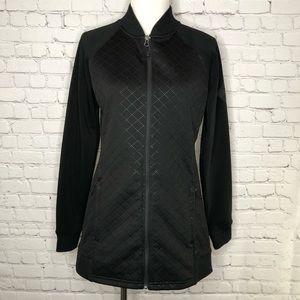 North Face Black Quilted Scuba Jacket Medium